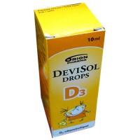 Капли с витамином D3 10 мкг для детей DeviSol Drops D3 10 мл DeviSol