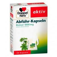 Слабительные капсулы DOPPELHERZ Abführ-Kapseln Rizinol 1.000 mg 30 шт DoppelHerz