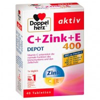 Витамин C с цинком DOPPELHERZ C+Zink+E Depot Tabletten 40 шт DoppelHerz