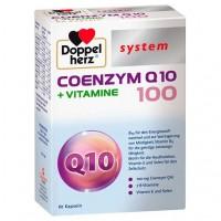 Капсулы с коэнзимом Q10 DOPPELHERZ Coenzym Q10 100+Vitamine system Kapseln 60 шт DoppelHerz