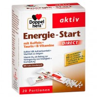Гранулы энергетические от усталости DOPPELHERZ Energie-Start DIRECT Pellets 20 шт DoppelHerz