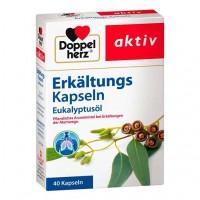 Капсулы с эвкалиптовым маслом DOPPELHERZ Erkältungskapseln Eukalyptusöl 40 шт DoppelHerz