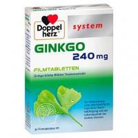 Витамины для улучшении памяти и концентрации DOPPELHERZ Ginkgo 240 mg system Filmtabletten 30 шт DoppelHerz