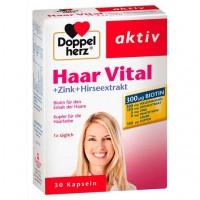 Витамины для волос DOPPELHERZ Haar Vital+Zink+Hirseextrakt Kapseln 30 шт DoppelHerz
