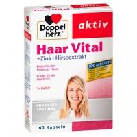 Витамины для волос DOPPELHERZ Haar Vital+Zink+Hirseextrakt Kapseln 60 шт DoppelHerz