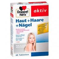 Витамины для волос и ногтей DOPPELHERZ Haut+Haare+Nägel Tabletten 60 шт DoppelHerz