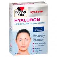 Капсулы с гиалуроновой кислотой DOPPELHERZ Hyaluron system Kapseln 30 шт DoppelHerz