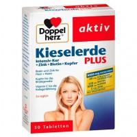 Витамины с кремнием DOPPELHERZ Kieselerde Plus Int.Kur+Zi.+Bio.+Cal.T. 30 таблеток DoppelHerz