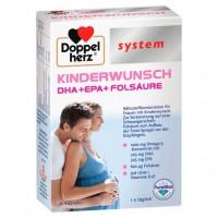 Капсулы для ранней фазы беременности DOPPELHERZ Kinderwunsch system Kapseln 30 шт DoppelHerz