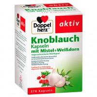 Капсулы с чесноком и боярышником DoppelHerz Knoblauch Mistel Weißdorn 270 шт DoppelHerz