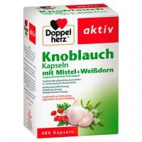 Капсулы с чесноком и боярышником DoppelHerz Knoblauch Mistel Weißdorn 480 шт DoppelHerz