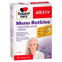 Витамины во время менопаузы DOPPELHERZ Meno Rotklee+Nachtkerzenöl+Biotin Kaps. 30 шт DoppelHerz
