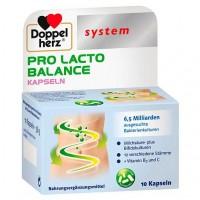 Капсулы с молочно-кислыми бактериями DOPPELHERZ Pro Lacto Balance system Kapseln 10 шт DoppelHerz