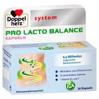 Капсулы с молочно-кислыми бактериями DOPPELHERZ Pro Lacto Balance system Kapseln 30 шт DoppelHerz