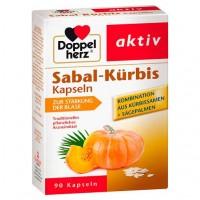 Витамины для укрепления функции мочевого пузыря DOPPELHERZ Sabal-Kürbis Kapseln 90 шт DoppelHerz