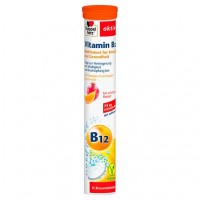 Шипучие таблетки с витамином B12 DOPPELHERZ Vitamin B12 Brausetabletten 15 шт DoppelHerz