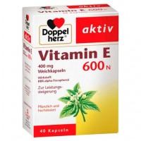 Капсулы с витамином Е DOPPELHERZ Vitamin E 600 N Weichkapseln 40 шт DoppelHerz