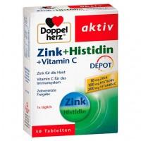 Витамин С + цинк DOPPELHERZ Zink+Histidin Depot Tabletten 30 шт DoppelHerz