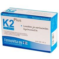 Витамин K2 Plus + D3- и C-витамины 100 таблеток FennoVita