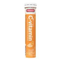 Шипучие таблетки витамин C-vitamin Apelsin со вкусом апельсина (кремовый) 20 шт Friggs