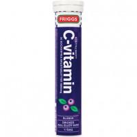 Шипучие таблетки витамин C-vitamin со вкусом черника (темносиний) 20 шт Friggs