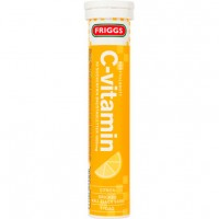 Шипучие таблетки витамин C-vitamin со вкусом лимона (желтый) 20 шт Friggs