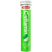 Шипучие таблетки витамин C-vitamin Mynta Lime со вкусом мяты и лайма (зеленый) 20 шт Friggs