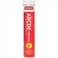 Шипучие таблетки Мультивитамины ABCDE (красный) 20 шт Friggs