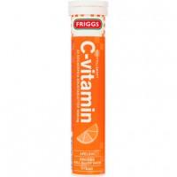 Шипучие таблетки витамин С со вкусом апельсина (оранжевый) 20 шт Friggs