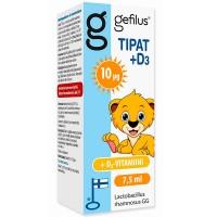 Капли с молочнокислыми бактериями Gefilus LGG + D3 Droppar (Tipat) с витамином D3 8 мл Gefilus