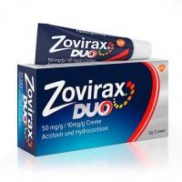 Крем в тубе от герпеса ZOVIRAX Duo 50 mg/g / 10 mg/g Creme 2 гр GSK