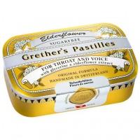 Леденцы с бузиной GRETHERS Elderflower zuckerfrei Pastillen 110 гр Hager Pharma