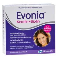 Витамины Evonia Keratin+Biotin для волос и ногтей 60 капсул Hankintatukku