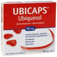 Убихинол для пожилых и уставших людей Ubicaps Ubiquinol 50 mg 40 капсул Hankintatukku
