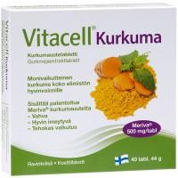 Витамины с куркумой для иммунитета Vitacell Kurkuma 40 таблеток Hankintatukku