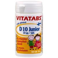 Витамин Д для детей Vitatabs D 10 Junior 10 мкг 100 жевательных таблеток Hankintatukku