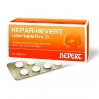 Гомеопатические лекарства для печени и желчных протоков HEPAR HEVERT Lebertabletten SL 40 шт HEVERT