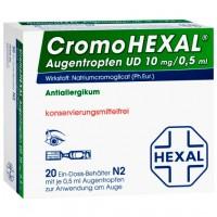 Капли от аллергии для глаз CROMOHEXAL Augentropfen 20 Х 0,5 мл HEXAL