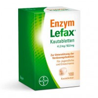 Таблетки жевательные от вздутия живота ENZYM LEFAX Kautabletten 100 шт Lefax