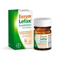 Таблетки жевательные от вздутия живота ENZYM LEFAX Kautabletten 20 шт Lefax