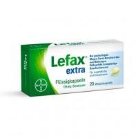 Капсулы жидкие от вздутия живота LEFAX extra Flüssig Kapseln 20 шт Lefax