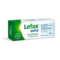 Таблетки жевательные от вздутия живота LEFAX extra Kautabletten 50 шт Lefax