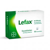 Таблетки жевательные от вздутия живота LEFAX Kautabletten 100 шт Lefax