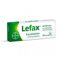 Таблетки жевательные от вздутия живота LEFAX Kautabletten 20 шт Lefax
