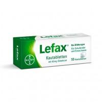 Таблетки жевательные от вздутия живота LEFAX Kautabletten 50 шт Lefax