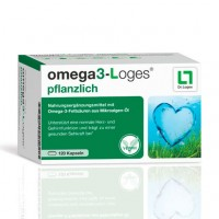 Витамин с жирными кислотами OMEGA3-Loges pflanzlich Kapseln 120 капсул Loges