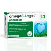 Витамин с жирными кислотами OMEGA3-Loges pflanzlich Kapseln 60 капсул Loges