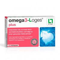 Витамин с рыбьим жиром OMEGA3-Loges plus Kapseln 60 капсул Loges