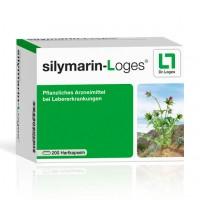 Препарат для печени с расторопшей SILYMARIN-Loges Hartkapseln 200 капсул Loges