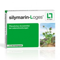 Препарат для печени с расторопшей SILYMARIN-Loges Hartkapseln 60 капсул Loges